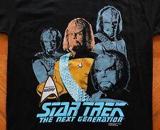 vtg Star Trek T Shirt WORF rare 1991 NOS The Next Generation Lrg movie tv series