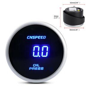 2in Car Digital Oil Pressure Gauge 0 ~ 10 Bar Racing Meter Mounting Kit + Sensor