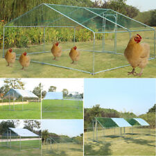 6 Size Large Metal Chicken Coop Run Walk in Cage Poultry Rabbit Duck Goose House