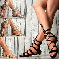 SeXy Designer LuXus Damen Gladiator Sandalen Schuhe Schnallen Party Weiß Schwarz