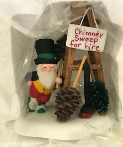 DEPT 56 Accessory North Pole Series/Chimney Sweep For Hire!/ #56843/NIB