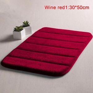 Home Bath Mat Coral Fleece Carpet Non-slip Memory Foam Washable Rug Floor  SC