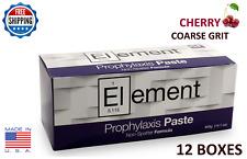 ELEMENT PROPHY PASTE CUPS CHERRY COARSE 200/BOX  DENTAL W/FLUORIDE - 12 BOXES