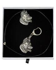 Beauceron - necklace, keyring, set with a dog in white box, Art Dog Usa