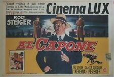 """AL CAPONE"" Affichette belge entoilée (Richard WILSON / Rod STEIGER, Fay SPAIN)"