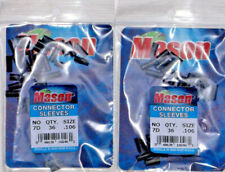 FREE USA SHIPPING...72 MASON 7D HEAVY DUTY BLACK CONNECTOR SLEEVES