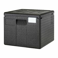More details for cambro top loading pizza transport box in black polypropylene - 265 mm