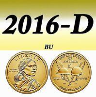 2016-P NATIVE AMERICAN BRIGHT CLEAR UNCIRCULATED DOLLAR===BU===
