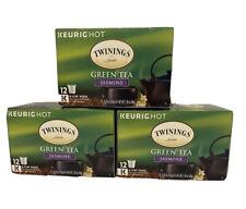 LOT OF 3 KEURIG Twinings Jasmine Green Tea K-Cups 12 ct. Boxes Expiration 04/21