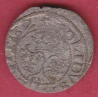 R* LITHUANIA POLAND SOLIDUS 1625 SIGISMUND III VF DETAILS #5414