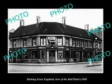 OLD LARGE HISTORIC PHOTO BARKING ESSEX ENGLAND, VIEW OF THE BULL HOTEL c1940