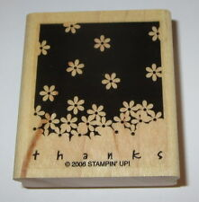 Thanks Flowers Rubber Stamp New Stampin' Up! Gently Falling Spring NOS Retired