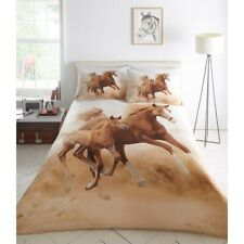Galloping Horses Foal Stallion Pony Photo Quality Duvet Cover Quilt Bedding Set