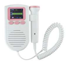 Hand-held Color LCD Fetal Doppler 2MHz Probe Heartbeat Monitor Clear Sound FDA