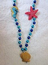 "Beautiful ""Under The Sea"" Mardi Gras Bead Seahorse Seashell Starfish (B282)"