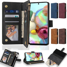 For Samsung Galaxy A51 A52 A72 A71 A22 Zip Wallet Case Leather Flip Phone Cover