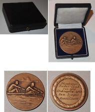 Medaille Münchener Ruder Club von 1880 Clubregatta 1927 Großer Vierer / mit Etui