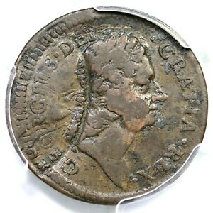1722 1.1-A.1 R-5 PCGS F Details Rosa Americana Half Penny Colonial Coin 1/2p