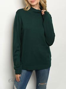 Cozy Casual | Green Long Sleeve Plus Size Mock Tunic Sweater | NWT 1X, 2X, 3X