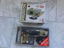 Proxxon micromot adaptador de alimentación con perforación y fräsgeräte minimot-dispositivo con herramienta