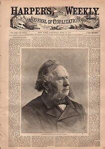 1877 Harpers Weekly June 16-Harper Dies;Nast flying skeleton;Preach to Chinese