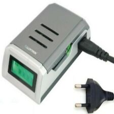 FAST 1.5 Hour LCD BATTERY CHARGER for AA AAA 1 metre European 2 pin Plug lead