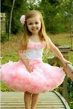Pink Girl's Dress. pink flower top + skirt set Baby dress for 3T, 5T,