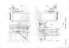 Stampa antica VAGLIO attrezzatura meccanica 1848 Old print