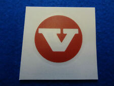 VOLVO CLASSIC RED CENTRE HUB CAP DECAL STICKER