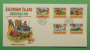 DR WHO 1996 ASCENSION ISLAND FDC CHRISTMAS  C240916