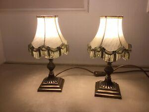 Pair Of Vintage Bedside Lamps
