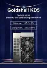 Goldshell KD5 18TH 2250W. Kadena Miner. August delivery