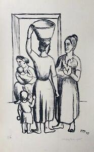 MAX PECHSTEIN Lithografie Italienerinnen 1945 handsigniert