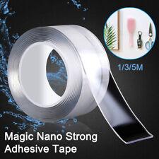 5 м Nano магия прозрачный двухсторонний захват, лента, съемные моющиеся бесследная клей