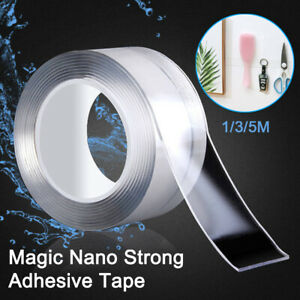 Nano Magic Clear Double Sided Grip Tape Traceless Removable Washable Adhesive