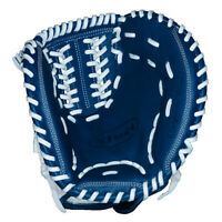 "Vinci JCV34 Blue/White w/ Black Mesh 34"" Catchers Mitt Right Hand Throw"