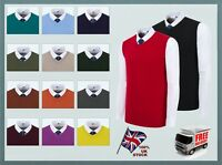 Men's Tank.top Office Business Sleeveless Slip-over Vest V-Neck Knitted Jumper