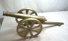 "Brass Cannon  Desk Decoration. 12""  Long."