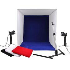 "24"" Photography Light Tent Backdrop Kit 60cm Cube Lighting Photo Studio Set"