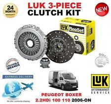 POUR PEUGEOT BOXER 2.2 HDi 100 110 Clutch Kit 2006-ON 101BHP 110BHP LUK 3 PIECE