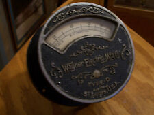 Wagner Electric Mfg Co St. Louis Mo D.C. Ammeter Vintage Electrical Instrument