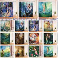 12 Types Sea Mermaid Princess Girl Bathroom Waterproof Fabric Shower Curtain