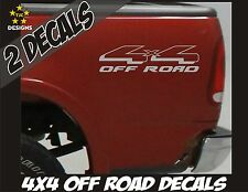 4x4 OFFROAD Truck Bed Decal Set METALLIC SILVER for Ford F-150 Super Duty Ranger