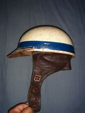 100% Orig Formel 1 RCM Helm Leder 1940er Jahre DRAX Crash Helmet Les Leston Era