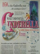 Hollywood Original Ad  Rare VHTF Early 1900s Cinderella Walt Disney