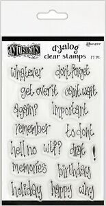 """Dyan Reaveley's Dylusions Clear Stamps 4""""X8""""-Whatever"""