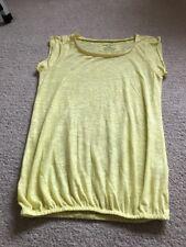 River Island Size 10 Lemon Cap Sleeved Tee Shirt