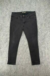 Levi's 711 Jeans Womens Size *33 x 30 Black Tab Skinny Denim Mid Rise Stretch