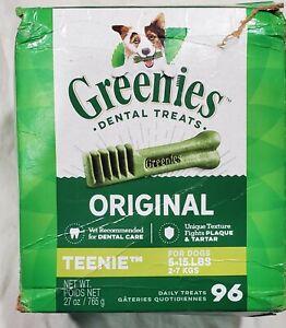 Greenies Dental Original Teenie Dogs 5-15lbs 96 Daily Treats Fight Plaque Tartar