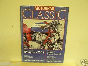 MOTORRAD CLASSIC 1988-01,MV AGUSTA 750S,DUCATI 750SS,DKW RT125,IMME R100